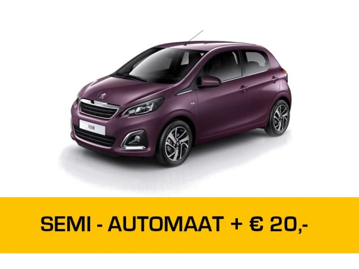 Peugeot 108 automaat private lease