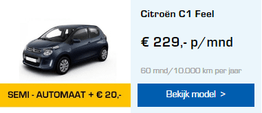 Citroën C1 automaat private lease
