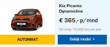 Kia Picanto automaat private lease