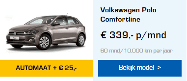 Volkswagen Polo automaat private lease