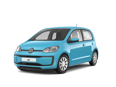 Teal Blue Volkswagen up! Voorkant
