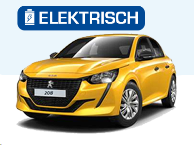 Peugeot e-208 voorkant private lease