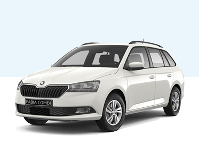 FABIA COMBI Ambition private lease voorkant candy white